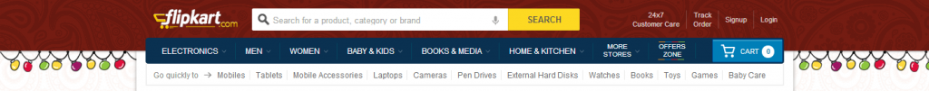 Flipkart Search Box Placement