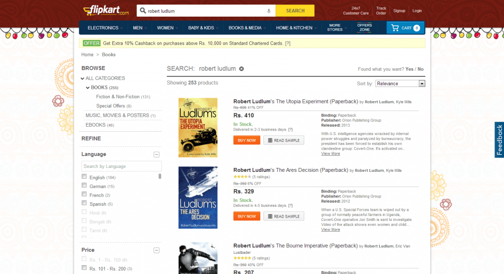 Flipkart Search Results Page