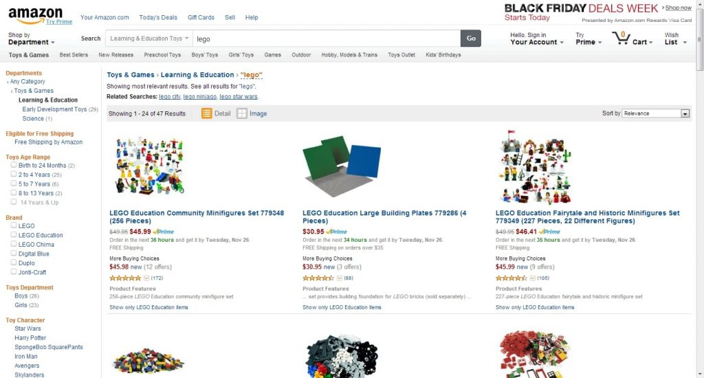 Amazon Faceted Search