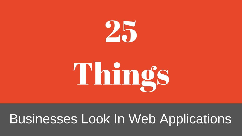 Business Web Application Things