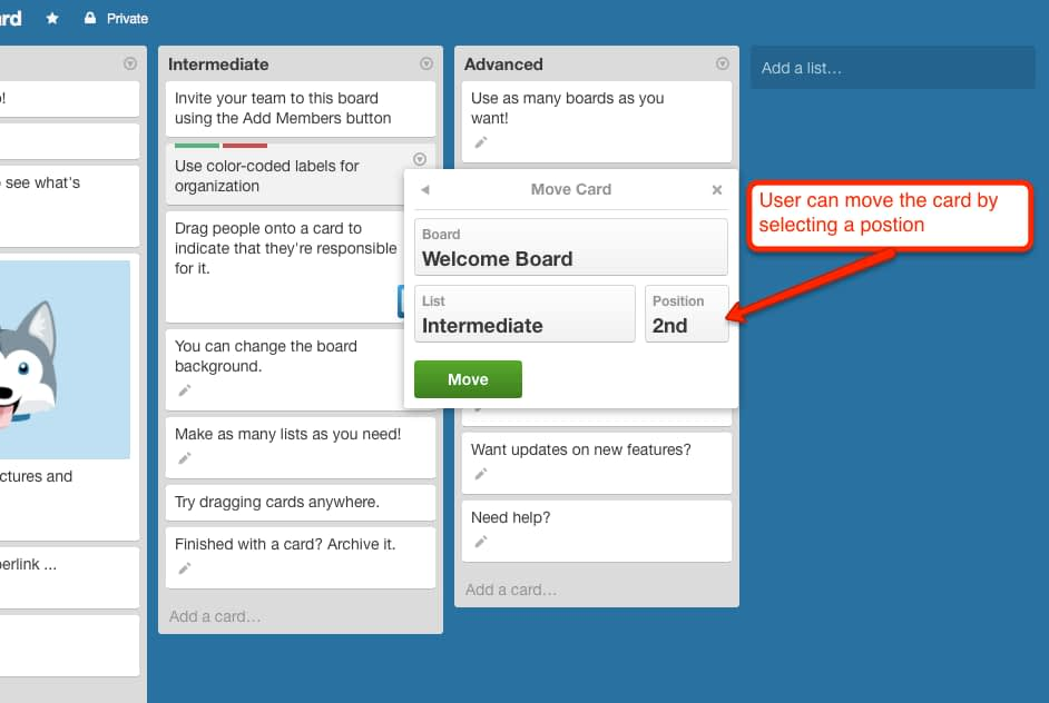 Trello Drag and Drop Accessibility Design