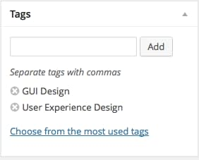 why you need tags feature in web apps how to design it