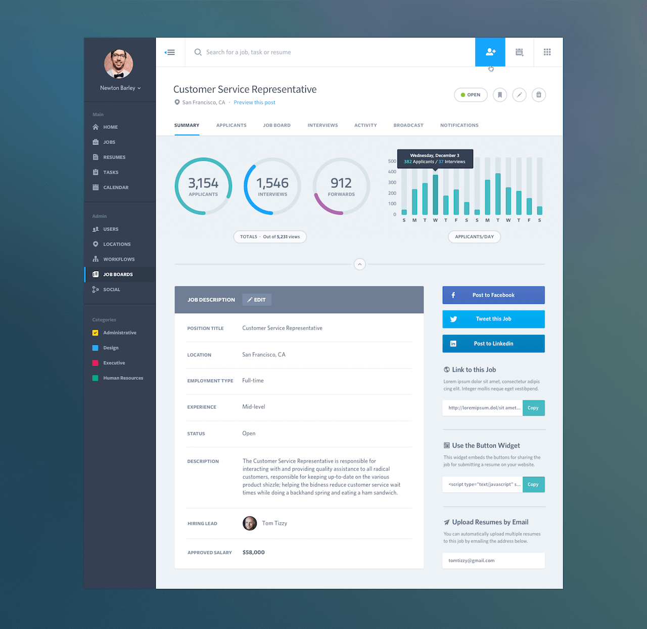 Visually Stunning Dashboard Design Examples Web App Huddle - Simple dashboard template